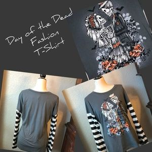 Tops - Day of the Dead Fashion T-Shirt